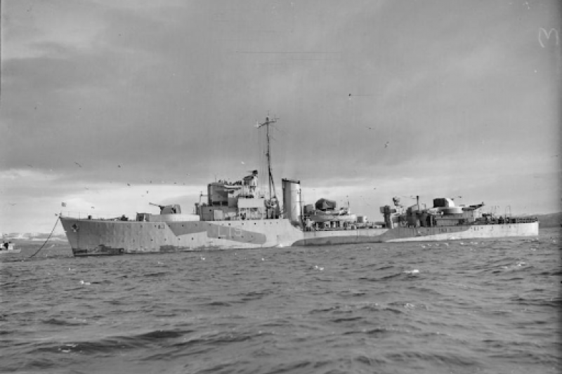 參加諾曼地登陸的法國海軍戰士號驅逐艦。(許劍虹提供)