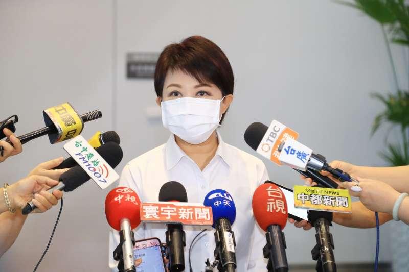 台中市長盧秀燕宣布台中購物節延長發票登錄至9/3。(圖/臺中市政府提供)
