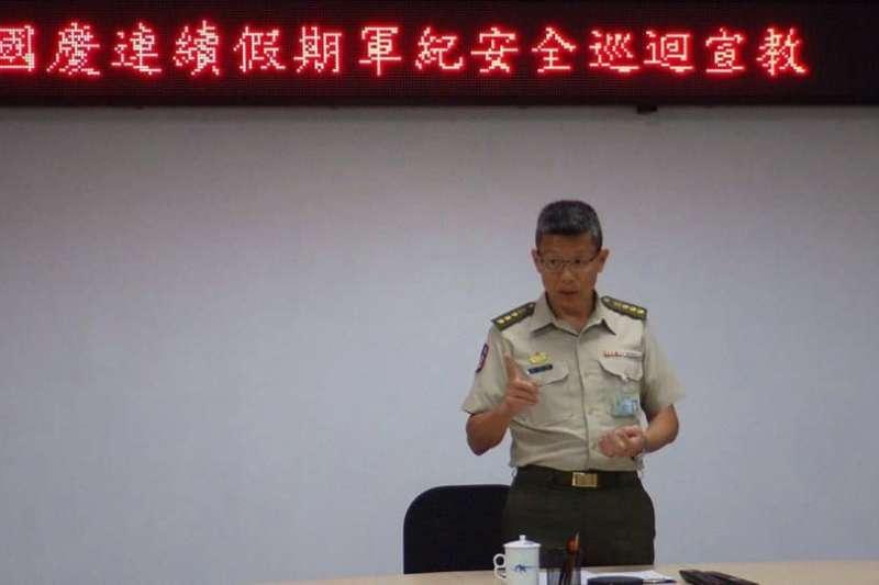 20200901-憲兵204指揮官成家麒上校。(取自憲兵指揮部發言人臉書)