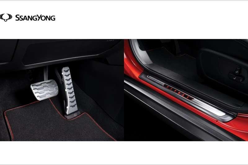 本月底前購入SsangYong TIVOLI進口跨界休旅即贈「LED前門門檻飾板組」、「不銹鋼油門煞車飾板組原廠配件」,再享50萬0利率優惠購車。(圖/永嘉雙龍汽車提供)