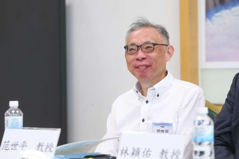 20200902-政大政治所教授范世平2日出席「 中美軍事對抗熱點與台海安全」座談會。(顏麟宇攝)