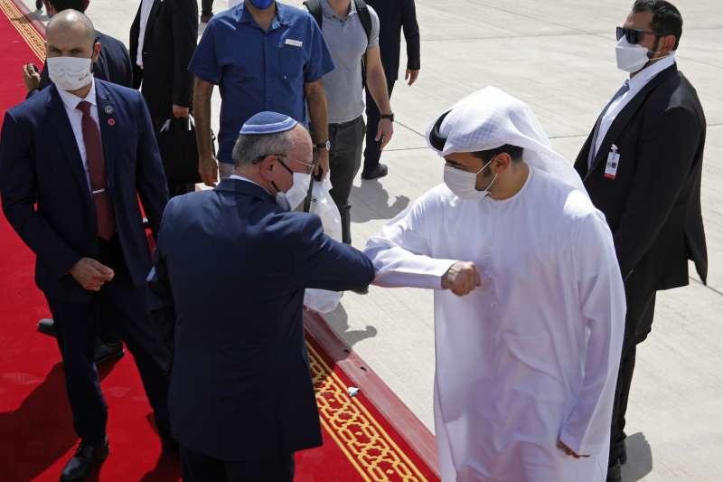 2020年8月,阿拉伯聯合大公國與以色列關係正常化。(AP)