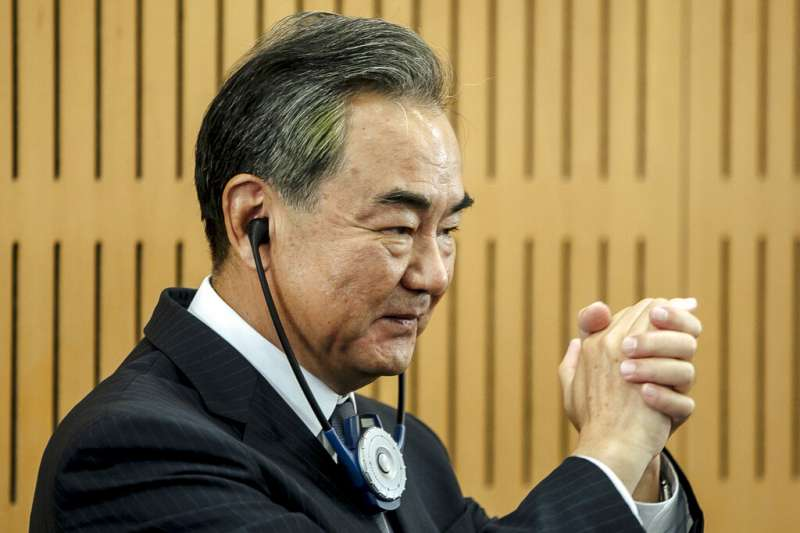 中國外長王毅。(美聯社)