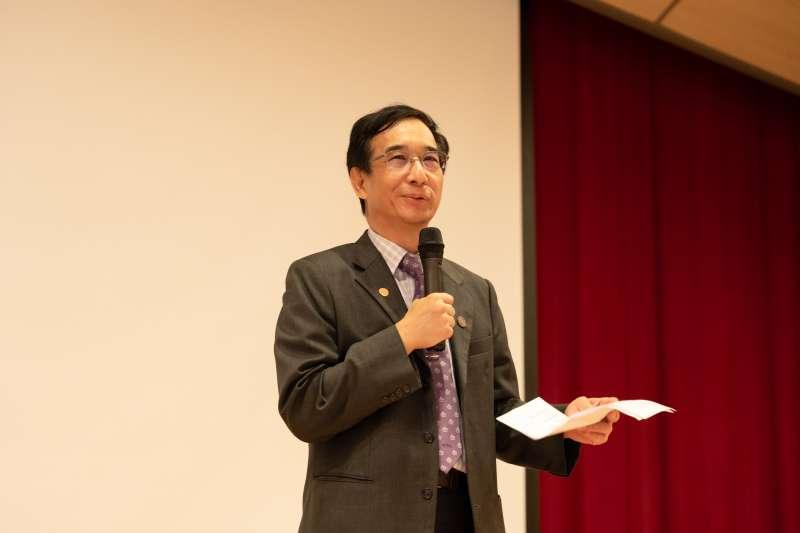 20200905-長風基金會與國立清華大學立德計畫共同舉辦第1屆「亞洲青年論壇」,清華大學副校長信世昌致詞。(長風基金會提供)