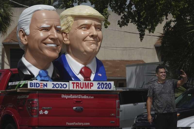 2020年美國總統大選將於11月舉行,現任總統川普確定將迎戰民主黨候選人拜登。(資料照,美聯社)