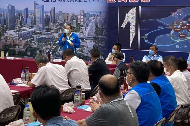 新北市長侯友宜今(7)日在泰山區公所邀請新泰五林地區民代茶敘。(圖/新北市研考會提供)