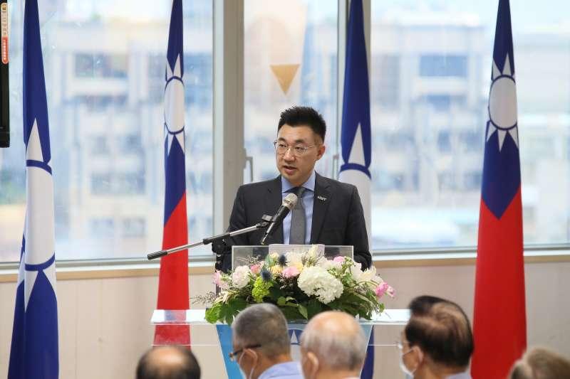 國民黨主席江啟臣(見圖)提醒民進黨政府,應該忠實轉達台灣人民的心聲,讓美方了解國人對於食安的堅持。(資料照,柯承惠攝)