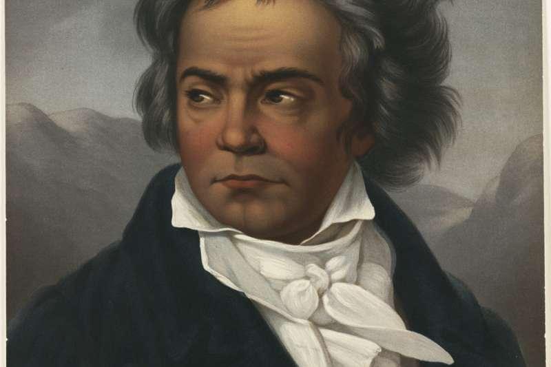 貝多芬肖像畫。約作於1861至1897年間。(Boston Public Library@Flickr/CC BY-SA2.0)
