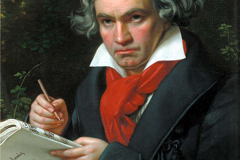 貝多芬肖像畫,1820年。(維基百科公有領域)