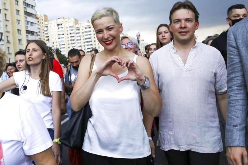 白俄羅斯反對派領袖柯列斯尼可娃。(AP)