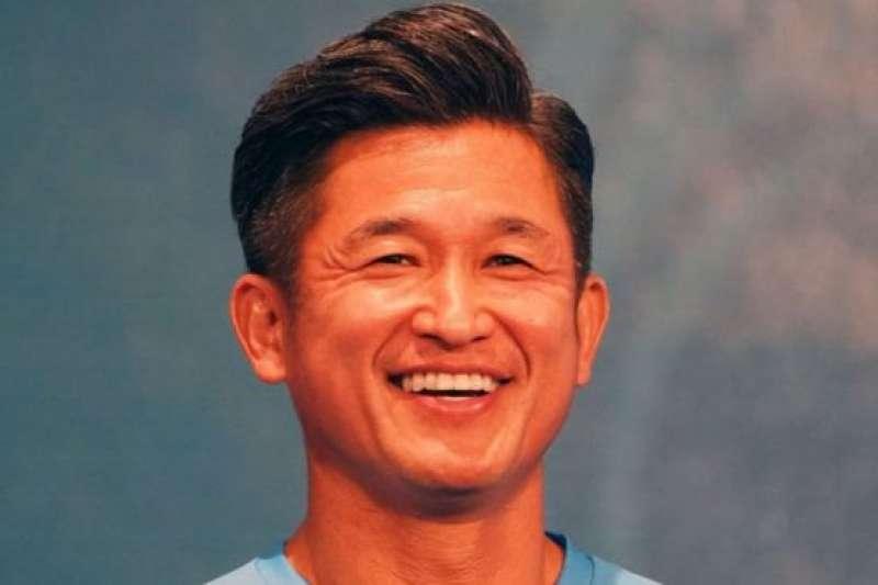 2020年2月J聯賽新賽季開始時的三浦知良。(BBC中文網)