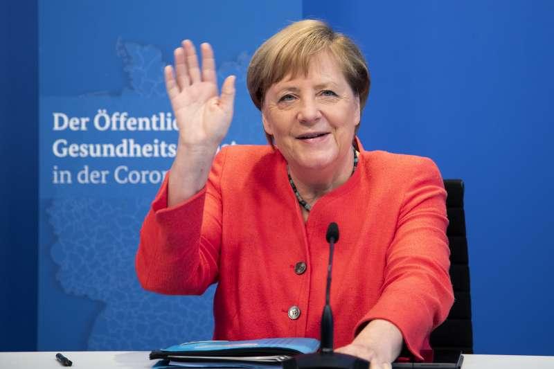 德國總理梅克爾。德國上周宣布新印太策略,不再圍繞中國而是強調自由與法治價值。(AP)