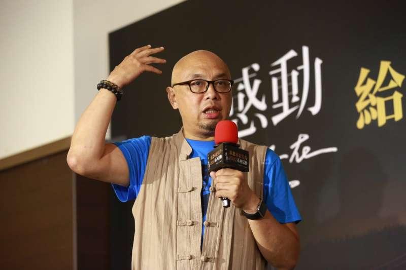史祖德主講「如何讓台灣紀錄片走向國際」。(圖/新北市政府提供)