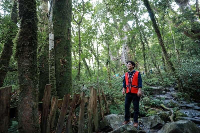 副總統賴清德昨(11)日上午前往新竹縣尖石鄉,進行2天1夜的司馬庫斯訪視行程。(取自賴清德臉書)