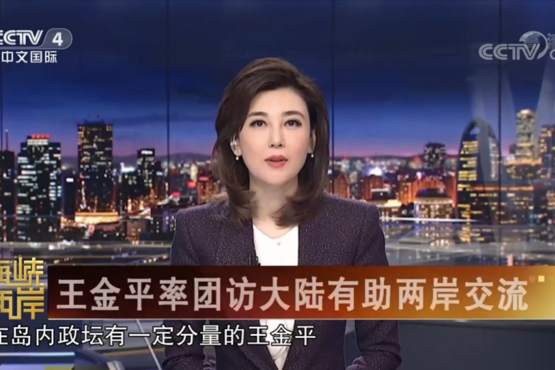 從2003年就是當家「花瓶」的李紅,多年從事對台新聞卻鮮少來到台灣,直到「求和說」才在台臭名遠揚。(翻攝自中國央視)