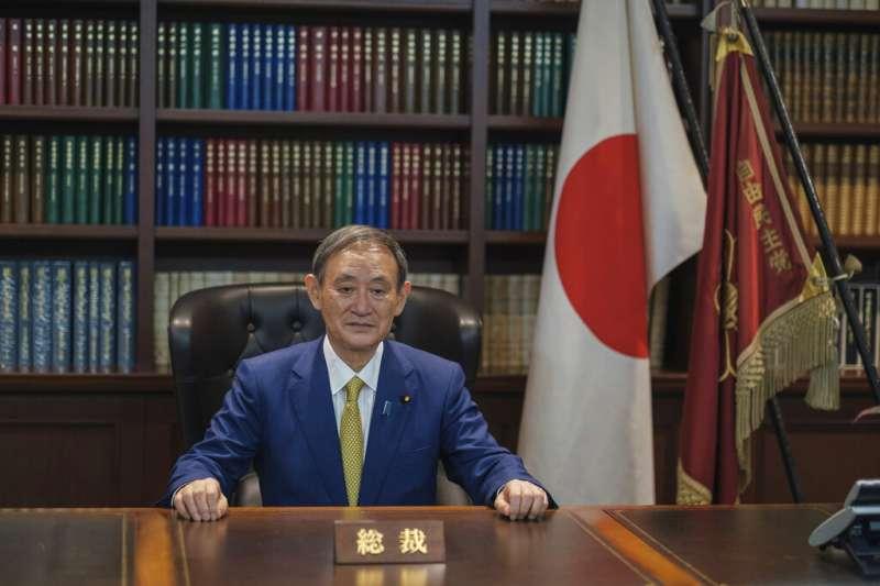日本自民黨新任總裁菅義偉。(美聯社)