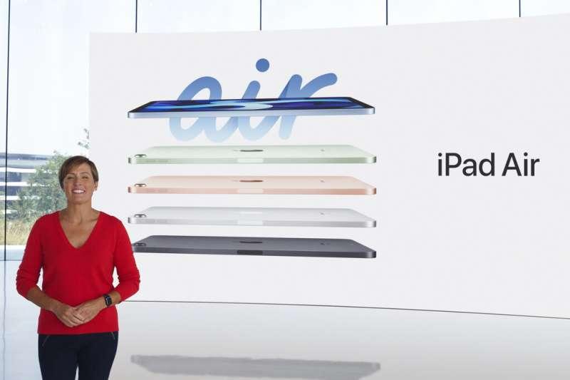 蘋果公司發表的新款iPad Air。(美聯社)