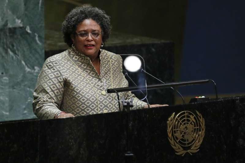 巴貝多首位女總理莫特利(資料照,AP)