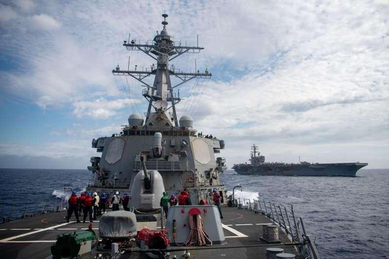 美國勢必會保衛台灣這個重要的地緣戰略據點。(翻攝自U.S. Navy臉書)