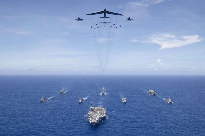 美軍2018「勇敢之盾」軍演資料照。(美國海軍官網)