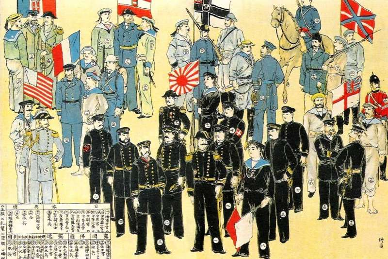 作者認為,120年前的八國聯軍與120年後的新八國聯軍的成形,起因都是一樣的。(維基百科公有領域)