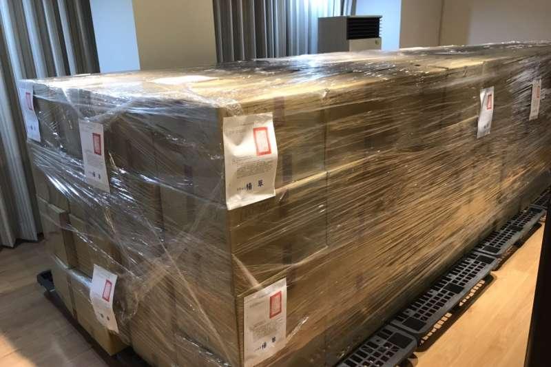 促轉會派員至國立政治大學封存中國國民黨「台灣省黨部檔案」一批計124箱。(促轉會提供)