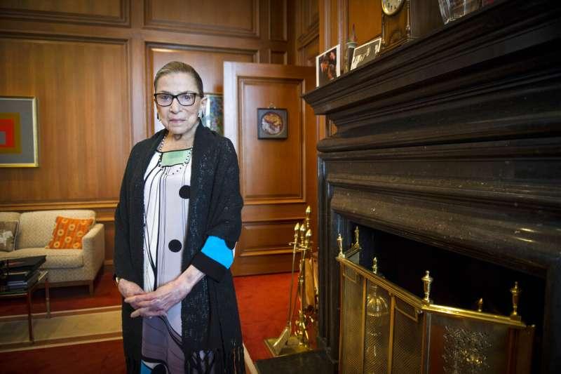 美國聯邦最高法院自由派大法官金斯堡。(美聯社)