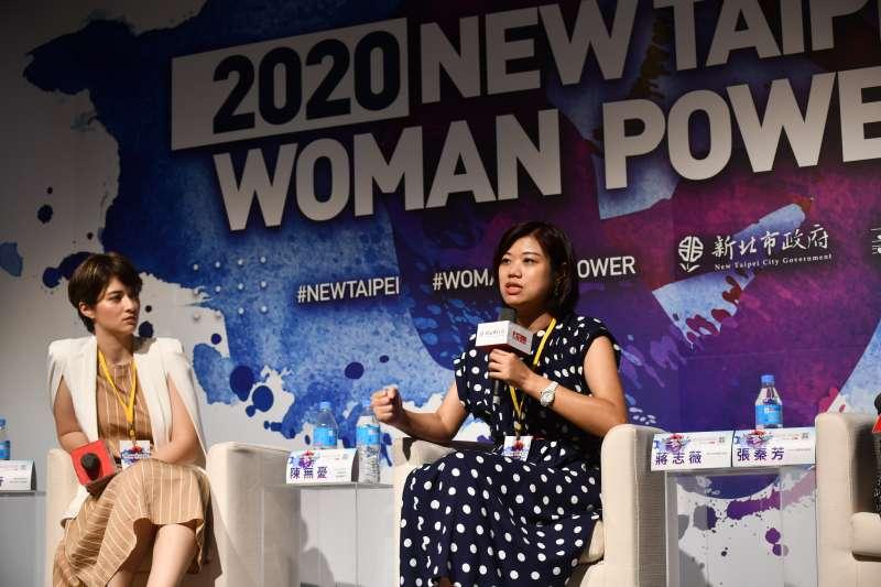 新北市新聞局局長蔣志薇鼓勵年輕人,當機會來臨,就要勇敢把握!(圖/新北市新聞局提供)