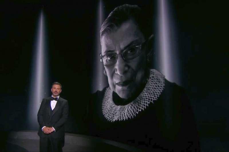 2020年9月,美國各界悼念聯邦最高法院大法官金斯堡(Ruth Bader Ginsburg)(AP)