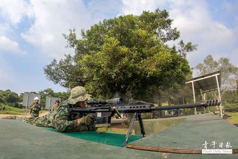 20200922-M107A1重型狙擊槍。(取自青年日報)