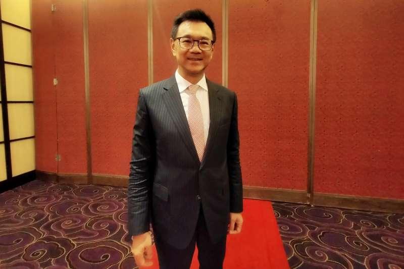 達麗董座謝志長表示,看好台灣未來5年房市。(林喬慧攝)