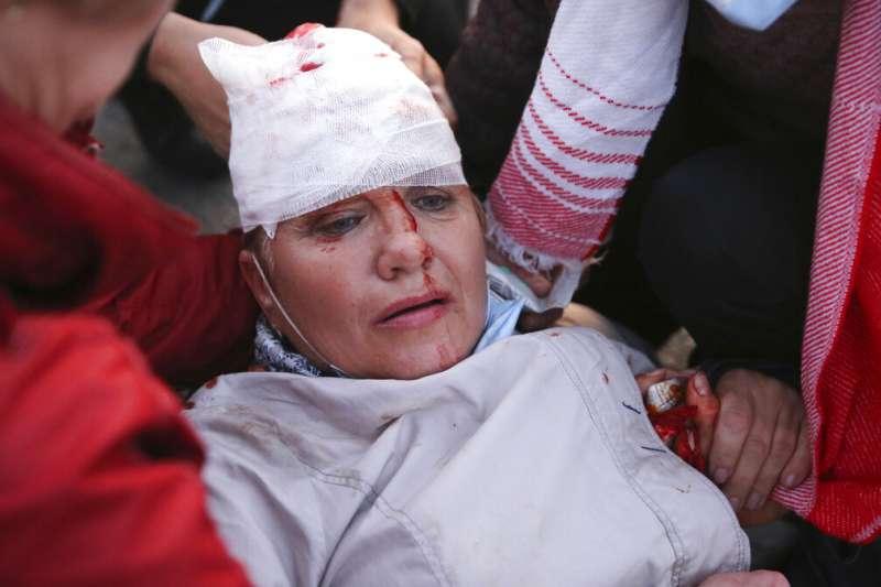 白俄羅斯(白羅斯)通訊社23日報導,掌權26年之久的總統盧卡申科已經秘密舉行宣誓就職典禮,展開第六任期。引發全國抗議示威。(AP)