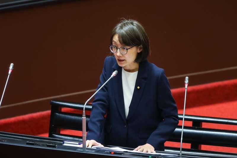 20200925-國民黨立委吳怡玎25日於立院質詢。(顏麟宇攝)