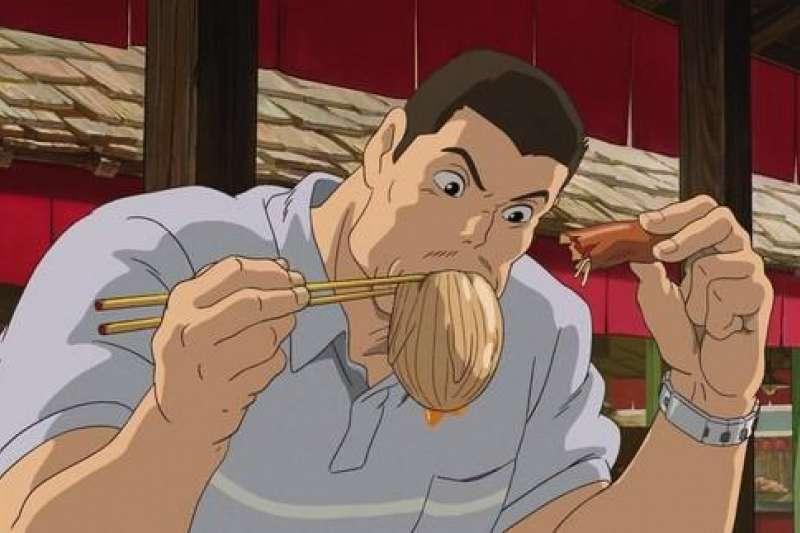 《神隱少女》中千尋的父親大快朵頤的「食物」,到底是什麼?(圖/取自方格子)