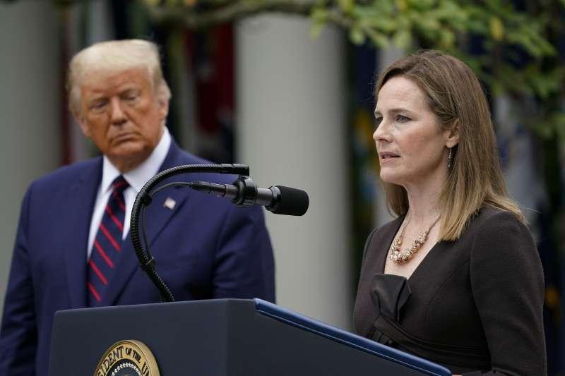 美國總統川普提名聯邦最高法院大法官人選巴雷特(AP)