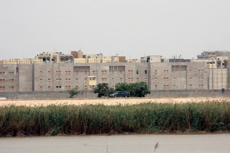2007年,興建中的美國駐伊拉克巴格達大使館(美聯社)