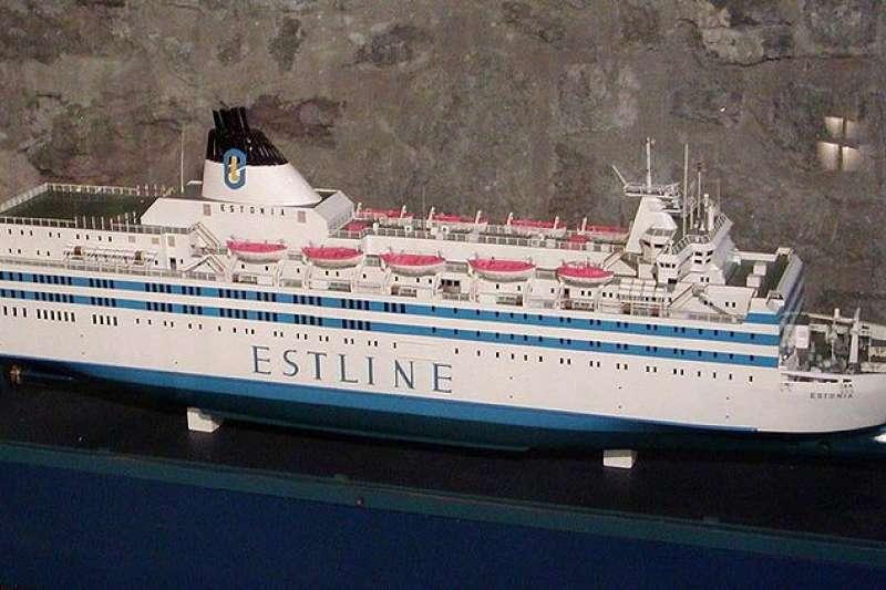 愛沙尼亞號模型。愛沙尼亞號在1994年沉船,造成852人死亡,是歐洲承平時期最慘船難。(Stan Shebs@wikipedia_CCBYSA3.0)