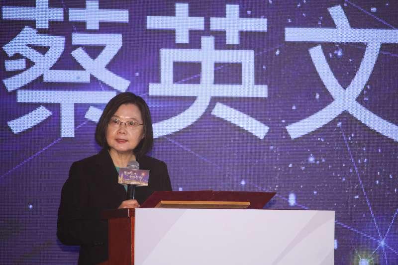 20200929-總統蔡英文出席「世界臺灣商會聯合總會第26屆年會」開幕典禮。(蔡親傑攝)