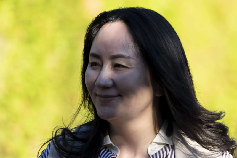 2020年9月28日,中國電信業鉅子華為副董事長兼財務長孟晚舟在加拿大溫哥華出庭(AP)