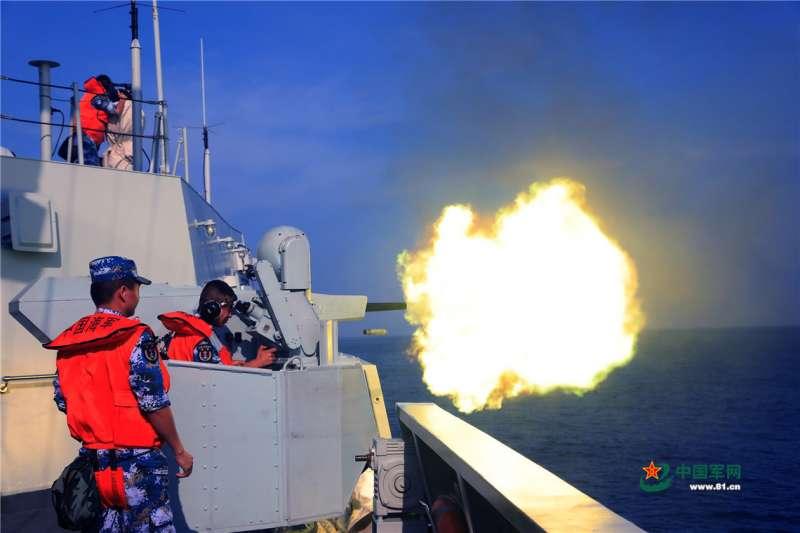 解放軍東部戰區近來不斷在沿海地區進行實戰化演練,對台升高施壓。056型飛彈護衛艦「泉州艦」。(中國軍網)