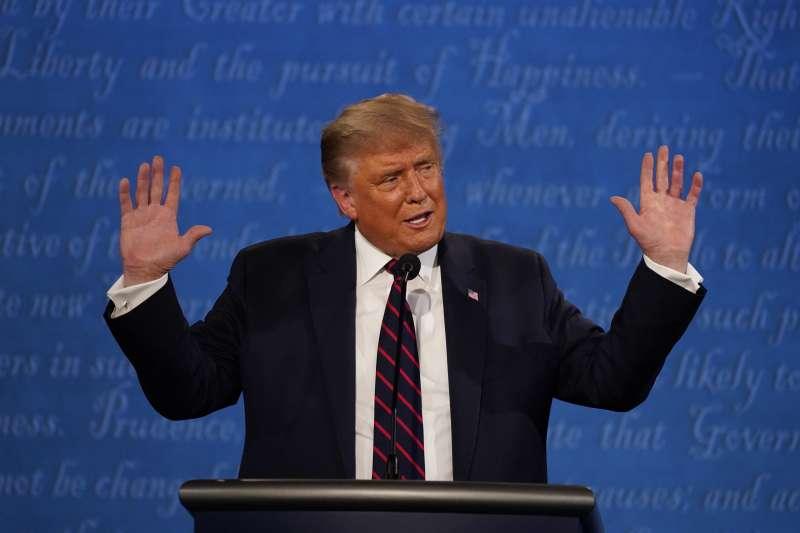 2020美國總統大選首場辯論,共和黨候選人川普。(AP)