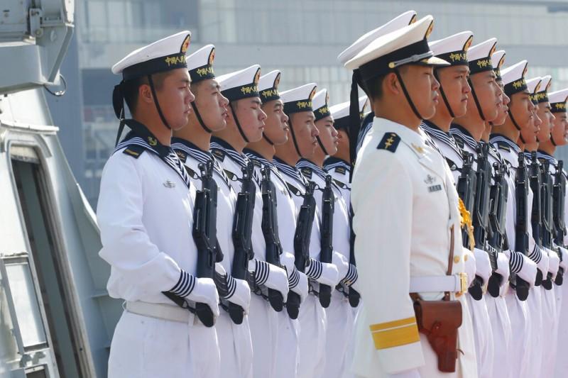 解放軍,中國海軍。(美國海軍)