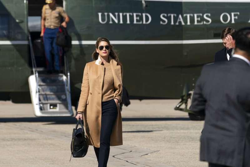 美國總統川普10月1日證實他的親近幕僚希克斯確診新冠肺炎。(AP)