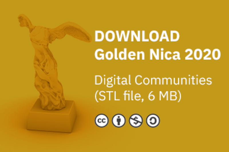 20201006-給香港人的Golden Nica獎盃3D列印檔下載。(作者提供)