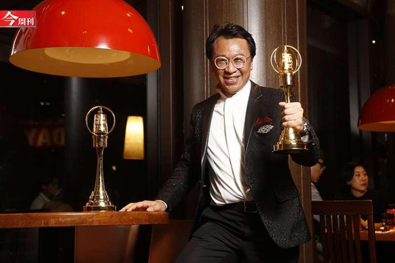 游安順分別以《盲人阿清》和《大吉》奪下第55屆金鐘獎迷你劇集男配角、男主角兩大獎。(攝影-陳弘岱)
