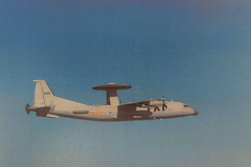 空軍司令部指出,解放軍1架機型屬預警機的「空警500」7日進入我西南空域。(空軍司令部提供)