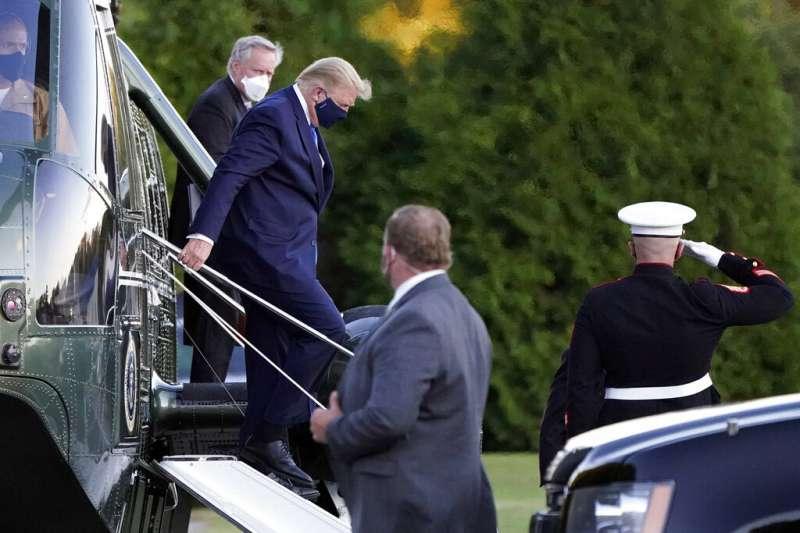美國總統川普(見圖)火速出院返回白宮引發關注。中研院生醫所兼任研究員何美鄉解開川普可以快速出院的謎題。(資料照,美聯社)