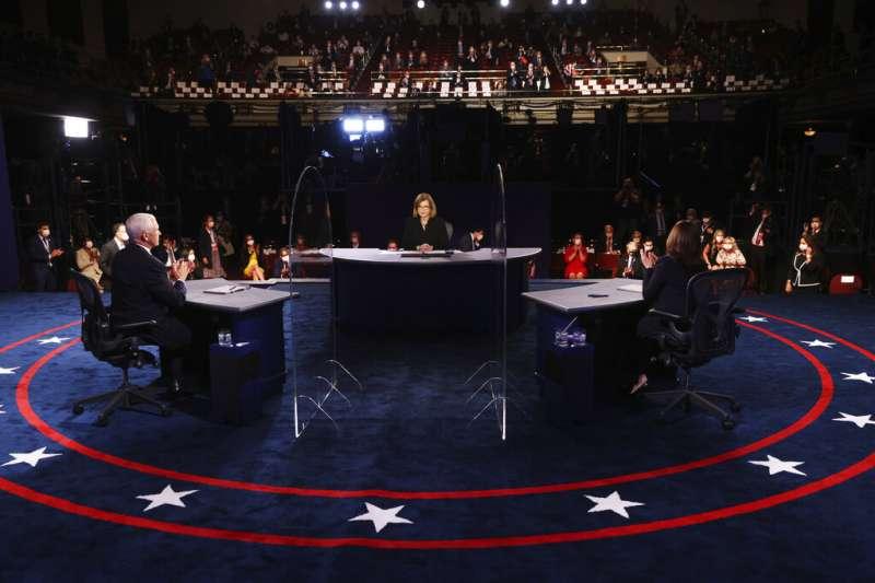 美國民主黨副總統候選人電視辯論會。(美聯社)