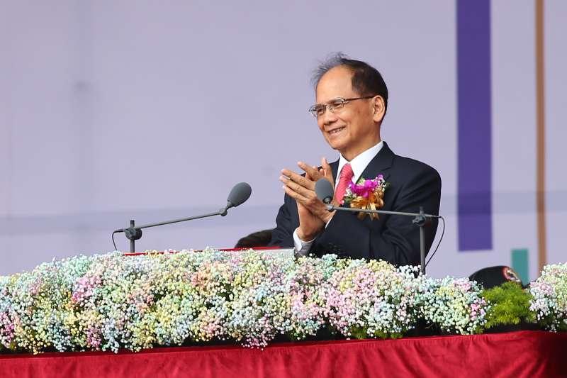 202001010-立法院長游錫堃10日出席中華民國109年國慶典禮。(顏麟宇攝)