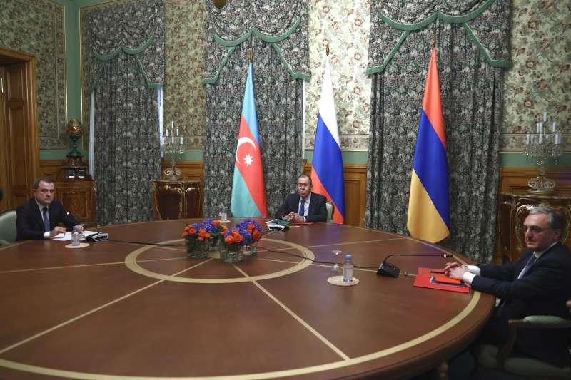 俄羅斯居中斡旋亞美尼亞和亞塞拜然之間的納哥諾卡拉巴克(納卡)衝突(AP)